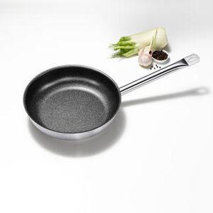 GSW Pfanne Le Chef Profile, Teflon-Antihaft-Versiegelung, Edelstahl, bis 240 °C, alle Herdarten inkl. Induktion, 28 cm Ø