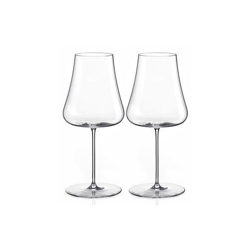 Nude Stem Zero Volcano Weißweinglas, Kristallglas, 2 Stück