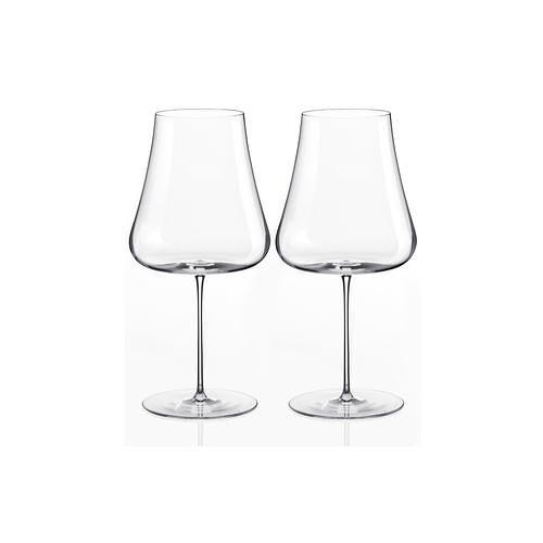 Nude Stem Zero Volcano Rotweinglas, Kristallglas, 2 Stück