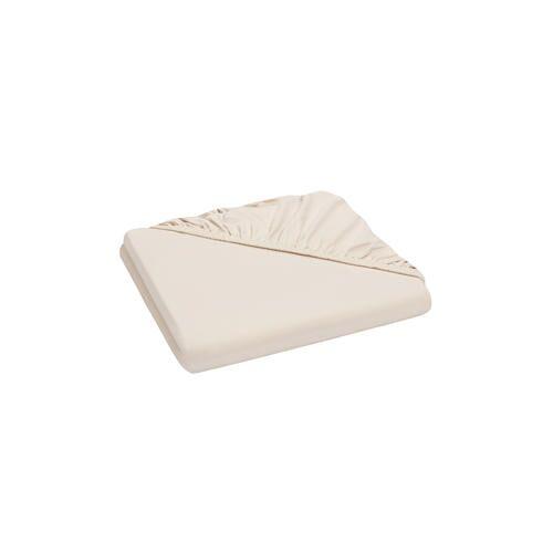 Domoline Luxus-Spannbetttuch, Sand, 90-100 x 200 cm
