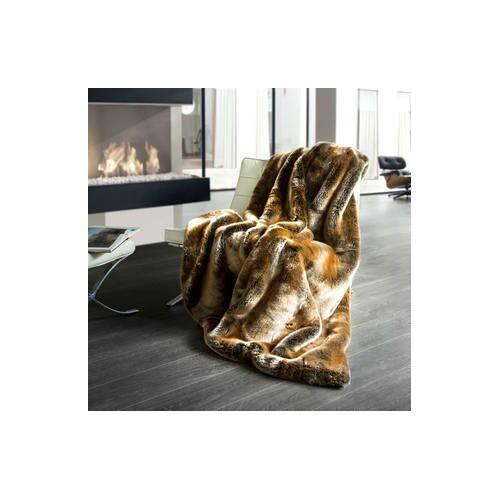 Star Home Textil Zobel Webpelzdecke, 150 x 200 cm, Wohndecke, Plaid, braun