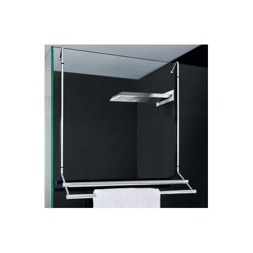 Giese Badetuchhalter Bodyguard für Duschwände, Chrom, 61,5 x 58 cm