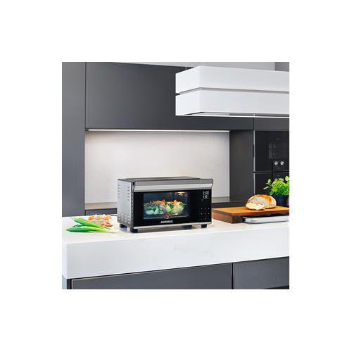 Gastroback Design Bistro Ofen Bake & Grill 42814 mit Drehspieß und Pizzastein