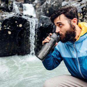 LiveStraw LifeStraw Go 2-Stage Wasserflasche mit Filter, Grau