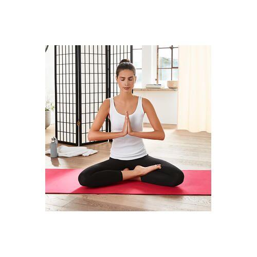 mantrafant Guru Elite Yogamatte und Pilatesmatte schwarz/rot + Tragetasche