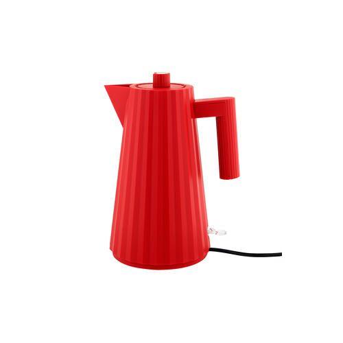 Alessi Plissé Wasserkocher, elektrischer Wasserkessel, 1,7 l, rot
