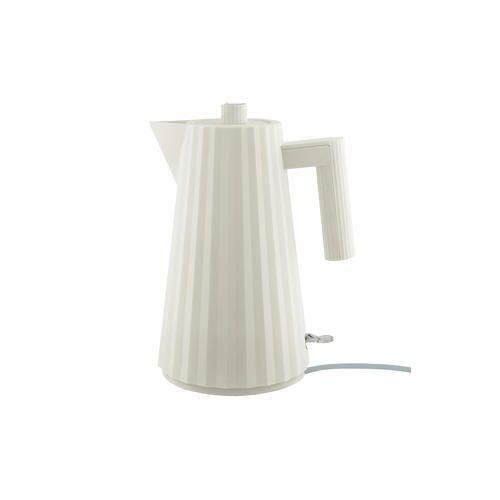 Alessi Plissé Wasserkocher, elektrischer Wasserkessel, 1,7 l, weiß
