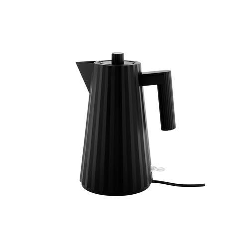Alessi Plissé Wasserkocher, elektrischer Wasserkessel, 1,7 l, schwarz