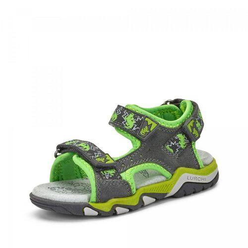 Lurchi Kindersandale Bubensandale Kinderschuhe Sandale Sommerschuhe Schuhe - Jungen - grau