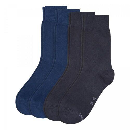 s.Oliver Socken 4er Pack - Unisex - blau
