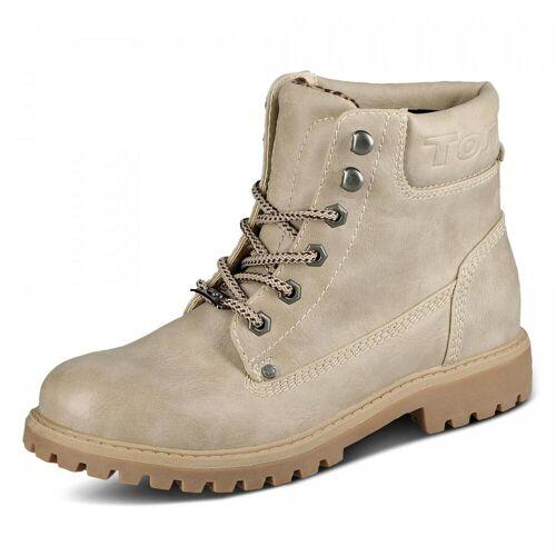 Tom Tailor Boots - Damen - beige, jetzt im Angebot
