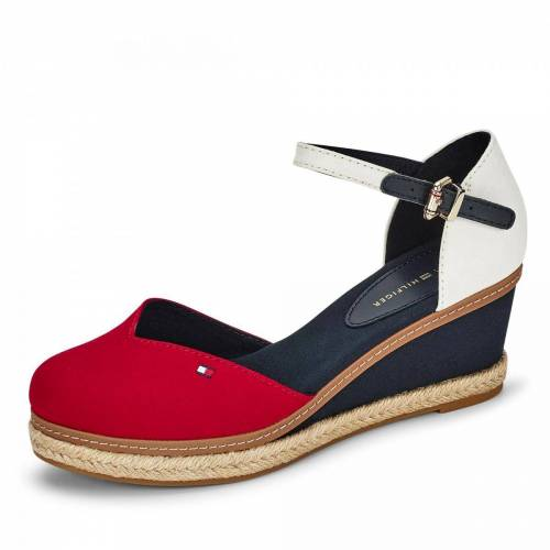 Tommy Hilfiger Basic Closed Toe Mid Wedge Pumps - Damen - rot