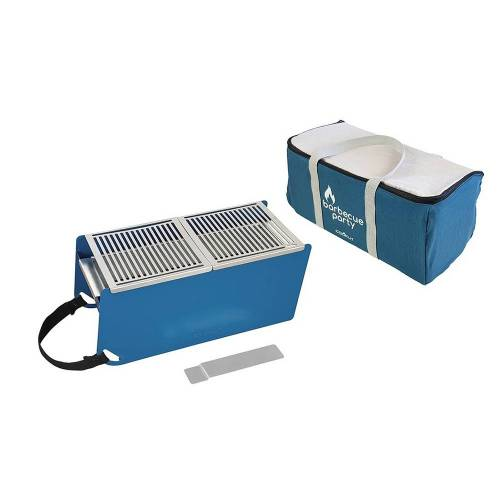 COOKUT Barbecue Party Tischgrill Yaki Blau