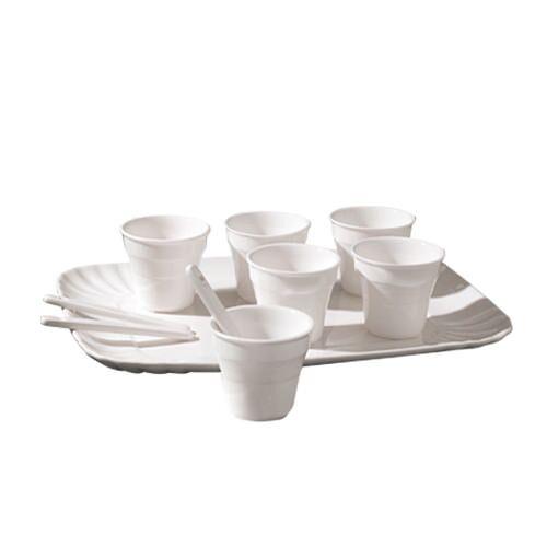 Seletti - Estetico Quotidiano - Kaffeesatz mit 6 Tassen + 1 Tablett