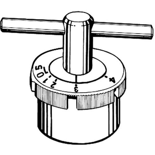 Heimeier Einstellschlüssel 4316-00.257 zu Thermostat-Oberteil 4320/22-02.301, für Voreinstellung