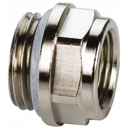 Simplex Reduzierstopfen F10705 Standard, Messing vernickelt, G 1/2 MxG 3/8 F