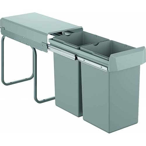Grohe Blue Mülltrennsystem 40855000 zweifach, 2x 15 Liter, 30 cm, grau