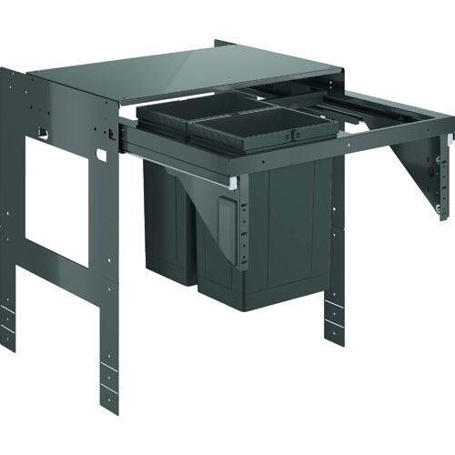 Grohe Blue Mülltrennsystem 40981000 zweifach, 2x 8 Liter, 60 cm, grau
