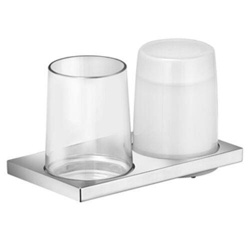 Keuco Doppelhalter Edition 11 11153019000 Echtkristall, chrom