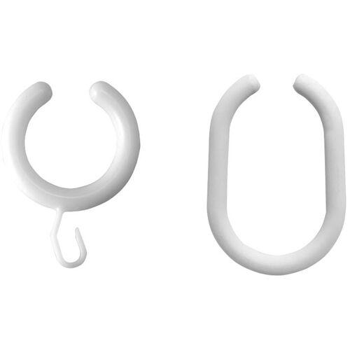 ASW Brausevorhangring 189010 Ø 32 mm, Kunststoff weiß, oben offen