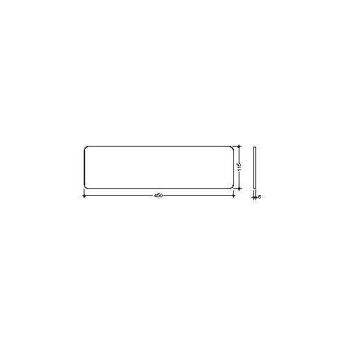 Hewi Glasplatte 63485 450 x 115 mm