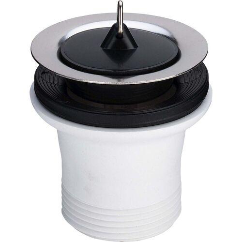 Viega Ablaufventil 108519 G 1 1/2xDN 70, Kunststoff weiß, mit Stopfen/Dreieckhaken