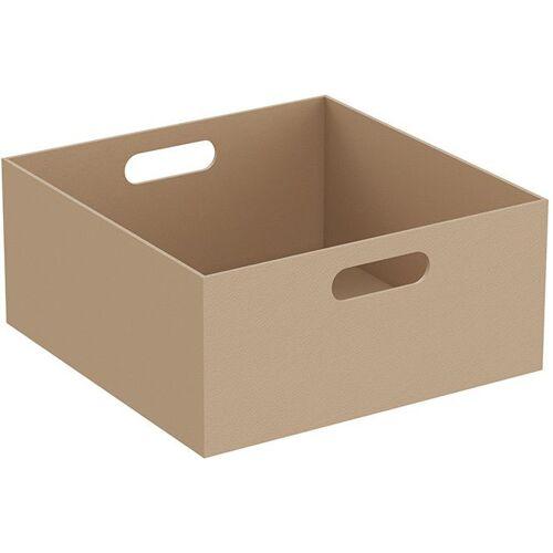 Vitra Equal Leder-Box 64113 35 x 35 x 16 cm, 2 Grifflöcher, beige