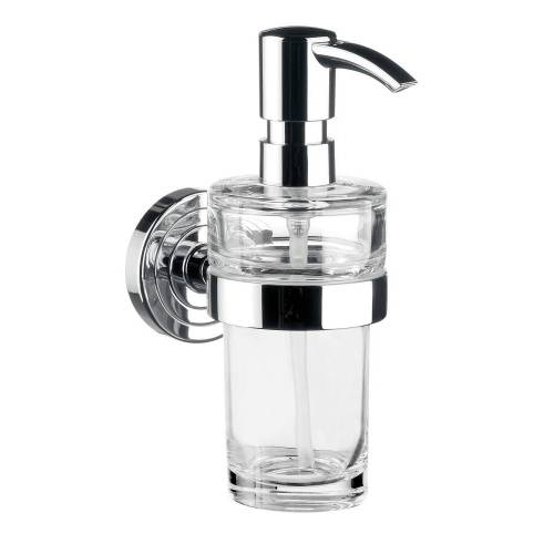 Emco Lotionsspender Polo chrom Kristallglas klar, Pumpe Kunststoff