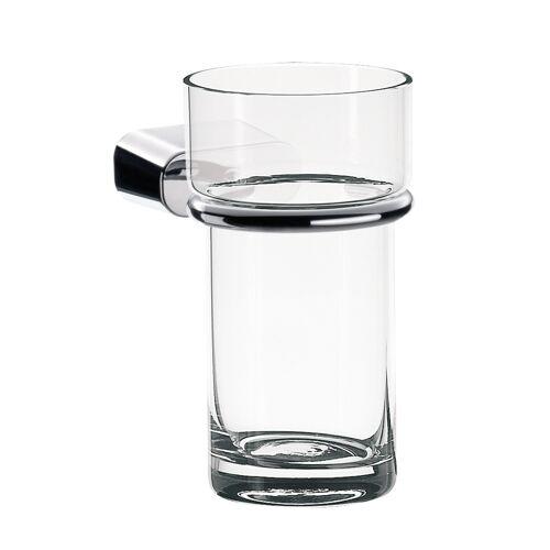 Emco Glashalter Logo 2 chrom, mit Kristallglas klar