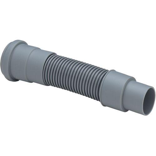 Viega Abflussrohr 460785 DN 50x50/40x750mm, Kunststoff grau, flexibel, mit Dichtung