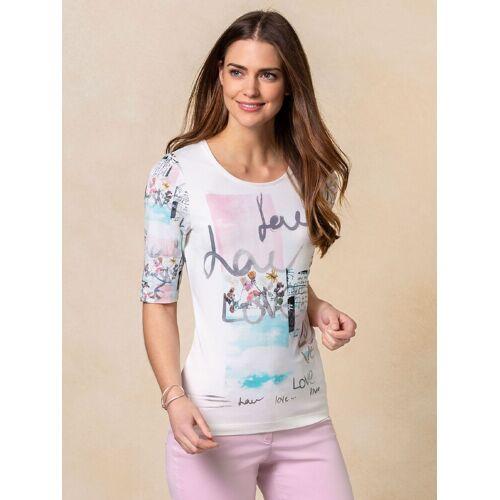 Walbusch Damen Shirt Bloomsbury in normalen Größen gemustert Weiß gemustert 48/50