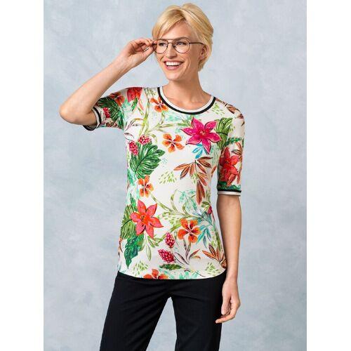 Walbusch Damen Shirt Costa Rica in normalen Größen gemustert Weiß gemustert 48/50