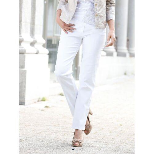 Gardeur Damen Jeans-Hose Weiß einfarbig   Gr. 22