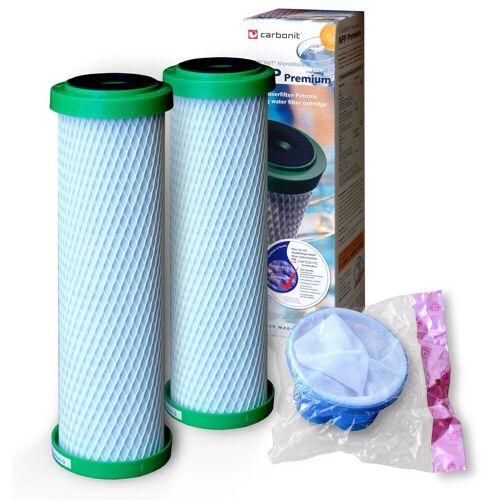 Carbonit 2x NFP Premium Carbonit, gratis 1 Waschmaschinen-Fusselfängersieb