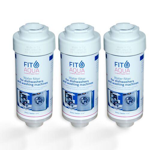 FitAqua 3x FitAqua Wasserfilter für Waschmaschine, Spülmaschine