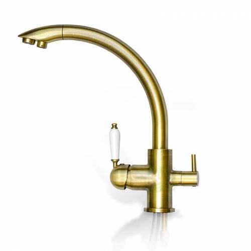 Wasserstelle GmbH Design-Drei-Wege-Wasserhahn Venedig, 3-Wege-Wasserhahn Antik