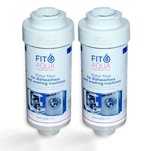 FitAqua 2x FitAqua Wasserfilter für Waschmaschine, Spülmaschine