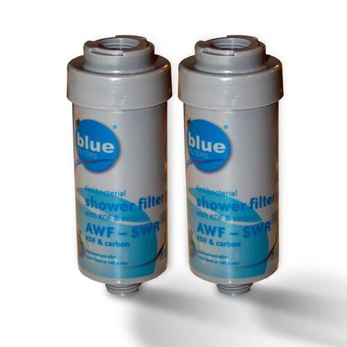 Bluefilters 2x Duschfilter Bluefilter, Wasserfilter zum Wohle Ihrer Haut