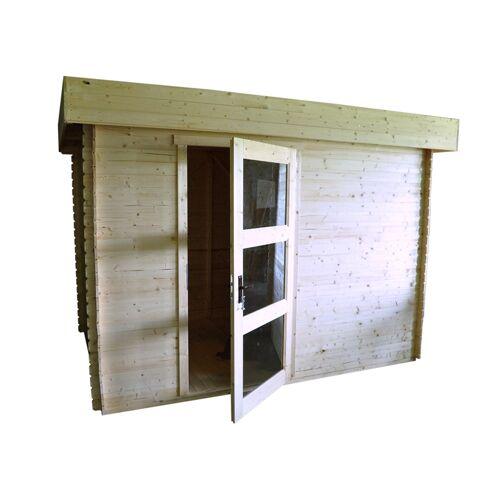 Steiner Shopping (TI) Holzhütte Lunz - 3,20 x 2,0 Meter aus 19mm Blockbohlen