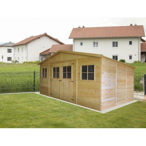 Steiner Shopping (TI) Gartengerätehaus München - 4,14 x 3,20 Meter aus 19mm Blockbohlen