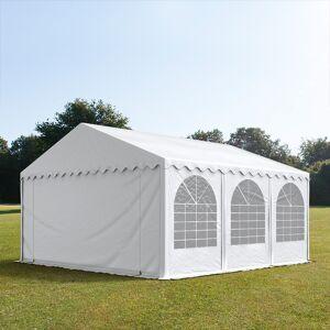 TOOLPORT Partyzelt 5x6m PVC 550 g/m² weiß wasserdicht Gartenzelt, Festzelt, Pavillon