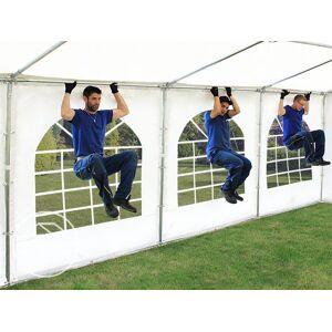 TOOLPORT Partyzelt 6x6m PVC 500 g/m² weiß wasserdicht Gartenzelt, Festzelt, Pavillon
