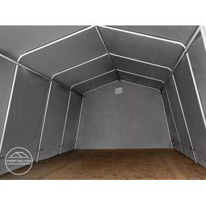TOOLPORT Zeltgarage 3,3x6,0m PVC 500 g/m² grau wasserdicht Garagenzelt