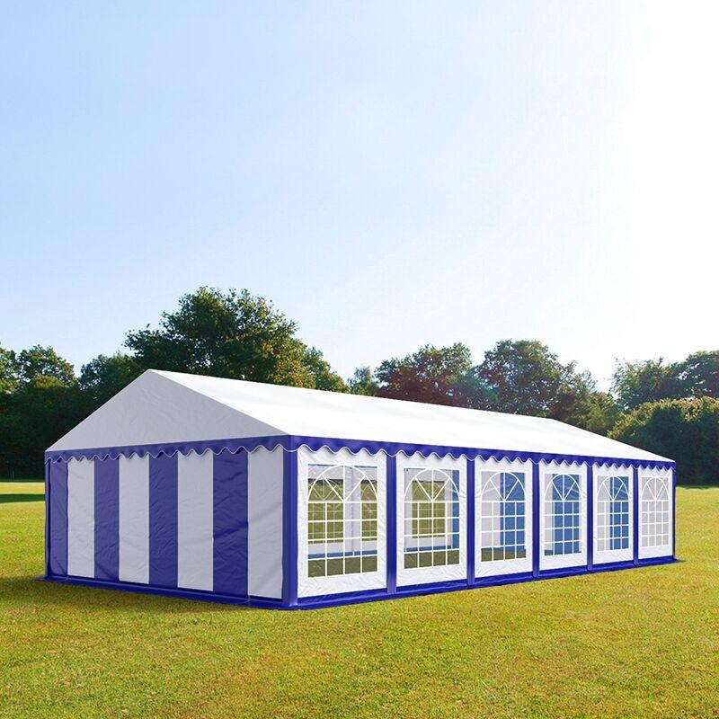 Profizelt24 Partyzelt 6x12m PVC 500 g/m² blau wasserdicht Gartenzelt, Festzelt, Pavillon