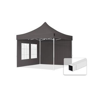 TOOLPORT Faltpavillon 3x3m Hochleistungspolyester 300 g/m² dunkelgrau wasserdicht Faltzelt, Klappzelt