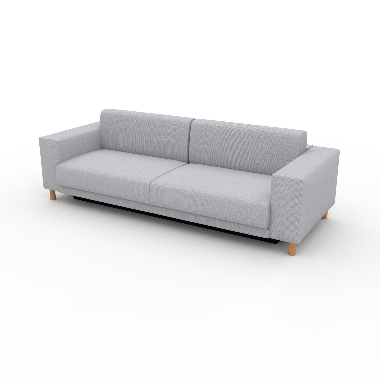 MYCS Schlafsofa Lichtgrau - Elegantes, gemütliches Bettsofa: Hochwertige Qualität, einzigartiges Design - 248 x 75 x 98 cm, konfigurierbar