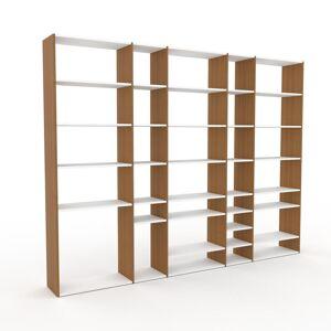 MYCS Bücherregal Weiß - Modernes Regal für Bücher: Hochwertige Qualität, einzigartiges Design - 303 x 233 x 35 cm, Individuell konfigurierbar