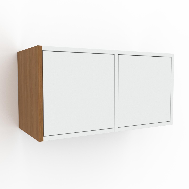 MYCS Hängeschrank Weiß - Moderner Wandschrank: Schubladen in Weiß - 79 x 41 x 35 cm, konfigurierbar