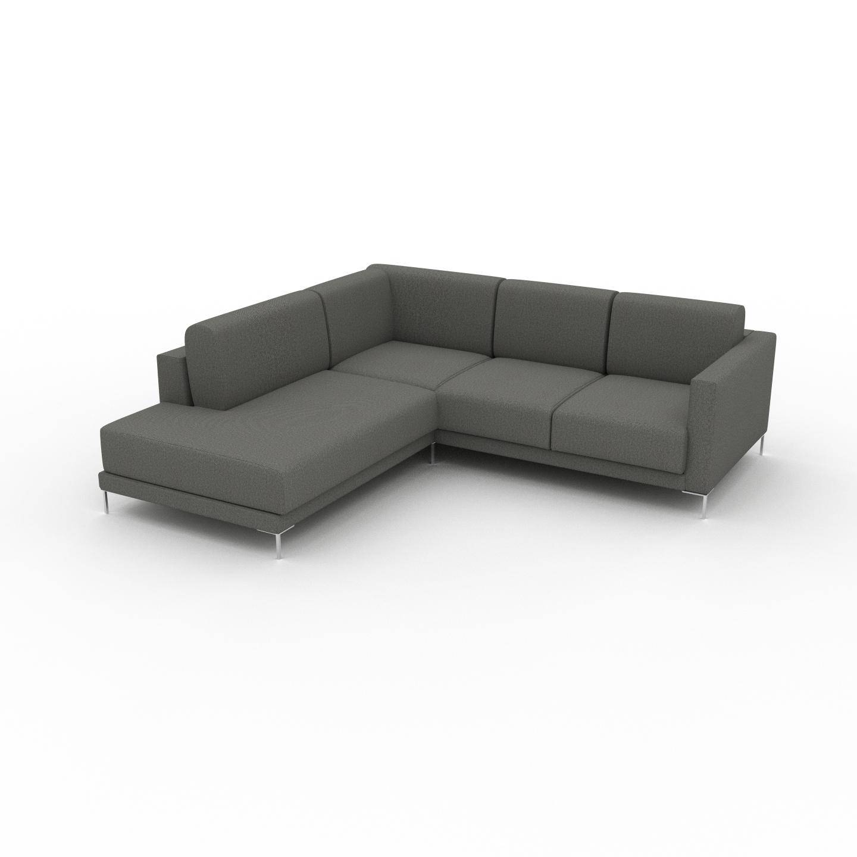 MYCS Sofa Kiesgrau - Moderne Designer-Couch: Hochwertige Qualität, einzigartiges Design - 226 x 75 x 214 cm, Komplett anpassbar