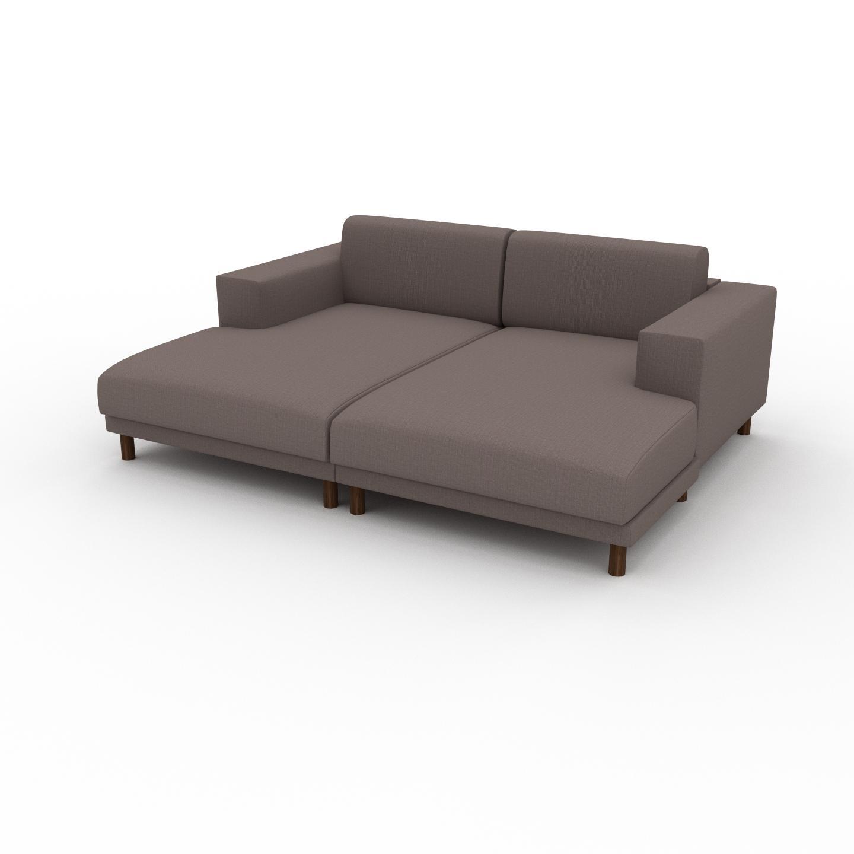 MYCS Wohnlandschaft Taupegrau - Flexible Designer-Wohnlandschaft: Hochwertige Materialien, einzigartiges Design - 208 x 75 x 162 cm, Konfigurator